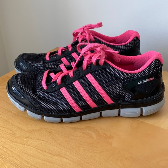 Adidas ClimaCool Black & Pink Running Shoes - Sz 8